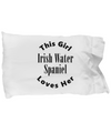 Irish Water Spaniel v2c - Pillow Case