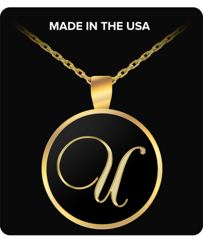 Initial U - Gold Plated Necklace - Unique Gifts Store