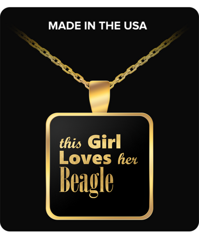 Beagle - Gold Plated Necklace - Unique Gifts Store