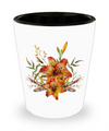 Tiger Lily Bouquet v2 - Shot Glass - Unique Gifts Store