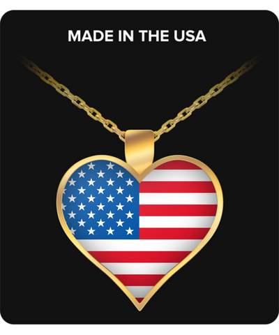 American Heart - Gold Plated Necklace - Unique Gifts Store