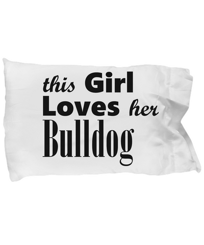 Bulldog - Pillow Case - Unique Gifts Store