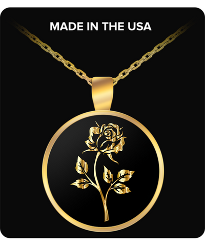 Gold Rose - Gold Plated Necklace - Unique Gifts Store
