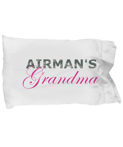 Airman's Grandma - Pillow Case - Unique Gifts Store