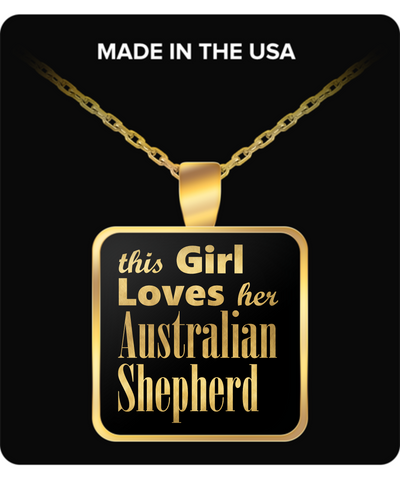 Australian Shepherd - Gold Plated Necklace