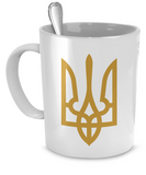 Tryzub (Gold) - Mug - Unique Gifts Store