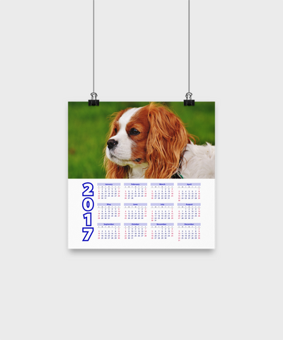 "Cavalier King Charles Spaniel - Calendar Poster 10""x10"" - Unique Gifts Store"