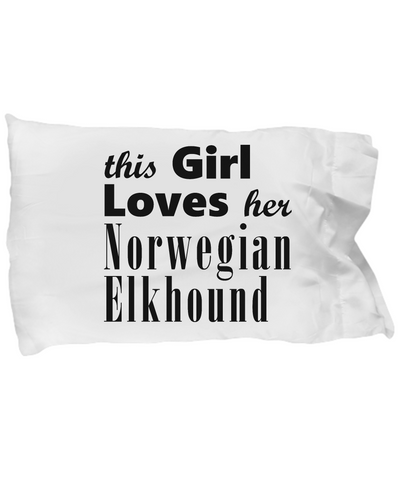 Norwegian Elkhound - Pillow Case - Unique Gifts Store