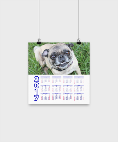 "Pug - Calendar Poster 10""x10"" - Unique Gifts Store"