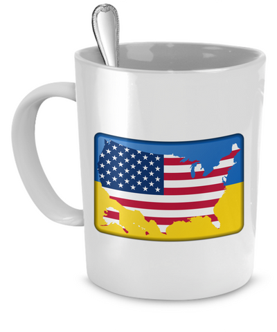 Ukrainian-American - 11oz Mug - Unique Gifts Store