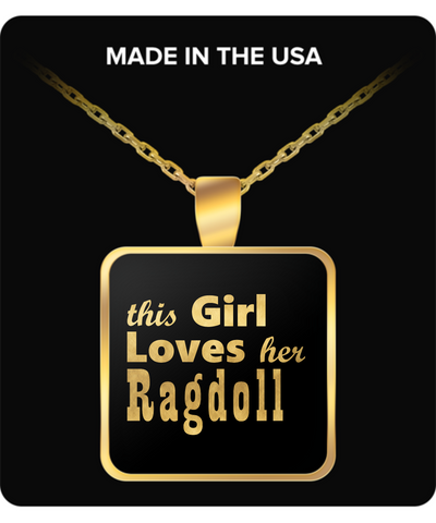 Ragdoll - Gold Plated Necklace - Unique Gifts Store
