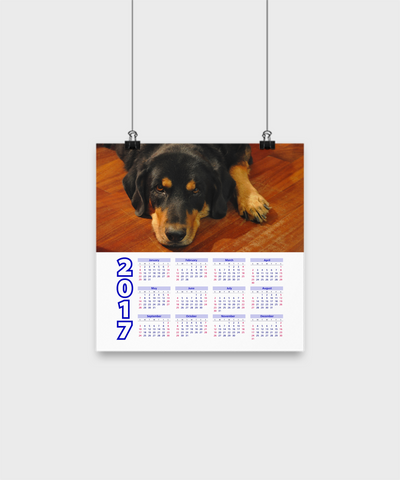 "Rottweiler - Calendar Poster 10""x10"" - Unique Gifts Store"