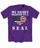 My Heart Belongs To a SEAL - T-Shirt - Unique Gifts Store