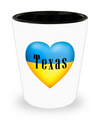 Ukrainian In Texas - Shot Glass - Unique Gifts Store