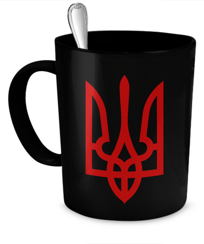 Tryzub (Red), v2 - Mug - Unique Gifts Store