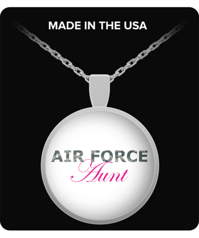 Air Force Aunt - Necklace - Unique Gifts Store