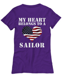 My Heart Belongs To a Sailor - T-Shirt - Unique Gifts Store