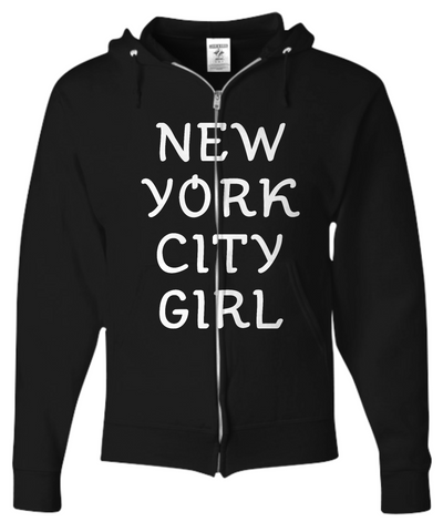 New York City Girl - Zip Hoodie - Unique Gifts Store