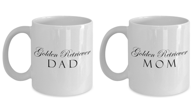 Golden Retriever Mom & Dad - Set Of 2 11oz Mugs - Unique Gifts Store