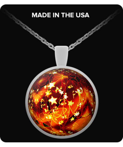 Orange Christmas Ball - Necklace - Unique Gifts Store