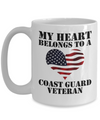 My Heart Belongs To A Coast Guard Veteran - 15oz Mug