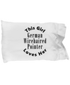 German Wirehaired Pointer v2c - Pillow Case