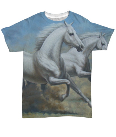 Running Horses - All Over Print Tee - Unique Gifts Store