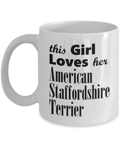 American Staffordshire Terrier - 11oz Mug - Unique Gifts Store