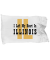 Heart In Illinois - Pillow Case - Unique Gifts Store