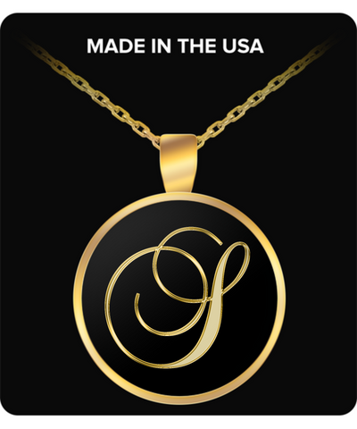 Initial S - Gold Plated Necklace - Unique Gifts Store