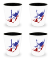 4th of July - Set Of 4 Shot Glasses - Unique Gifts Store