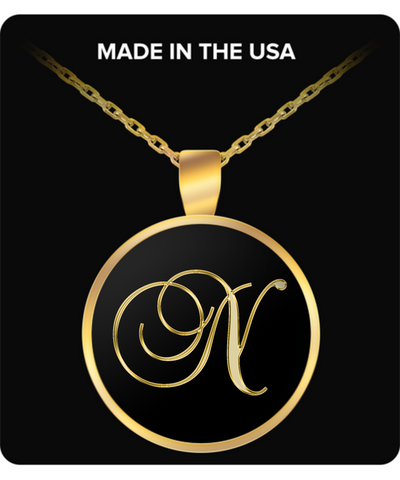 Initial N - Gold Plated Necklace