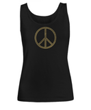 Golden Peace Hearts - Women's Tank Top - Unique Gifts Store