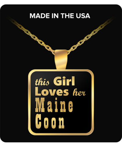 Maine Coon - Gold Plated Necklace - Unique Gifts Store