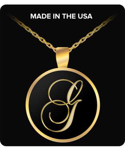 Initial G - Gold Plated Necklace - Unique Gifts Store