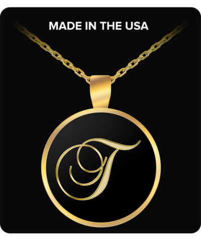 Initial T - Gold Plated Necklace - Unique Gifts Store