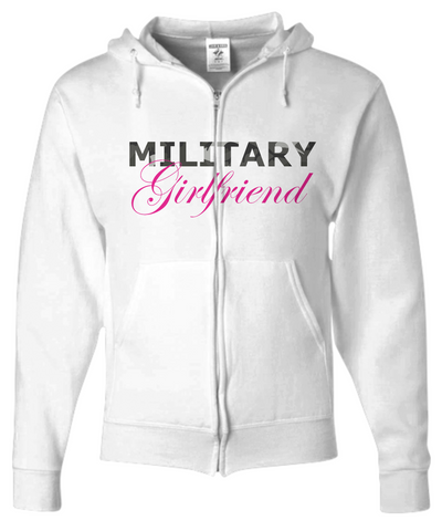 Military Girlfriend - Zip Hoodie - Unique Gifts Store