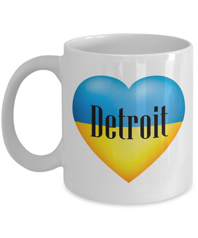 Ukrainian In Detroit - 11oz Mug - Unique Gifts Store