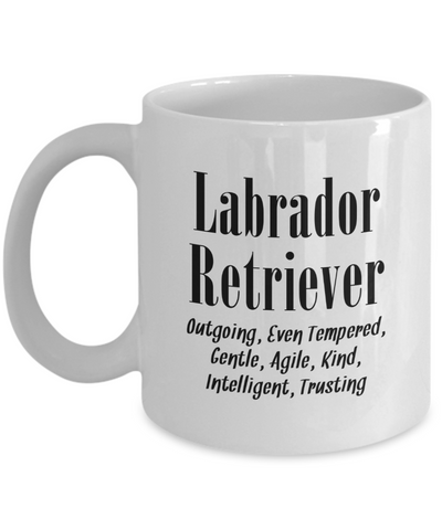 The Labrador Retriever - 11oz Mug - Unique Gifts Store