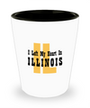 Heart In Illinois - Shot Glass