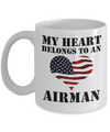 My Heart Belongs To an Airman - 11oz Mug - Unique Gifts Store