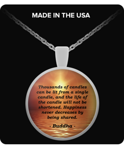 Buddha - Happiness - Necklace - Unique Gifts Store