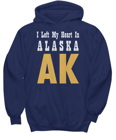 Heart In Alaska - Hoodie - Unique Gifts Store