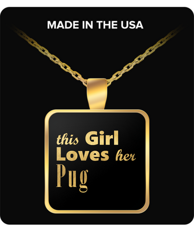 Pug - Gold Plated Necklace - Unique Gifts Store