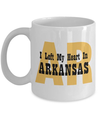Heart In Arkansas - 11oz Mug - Unique Gifts Store
