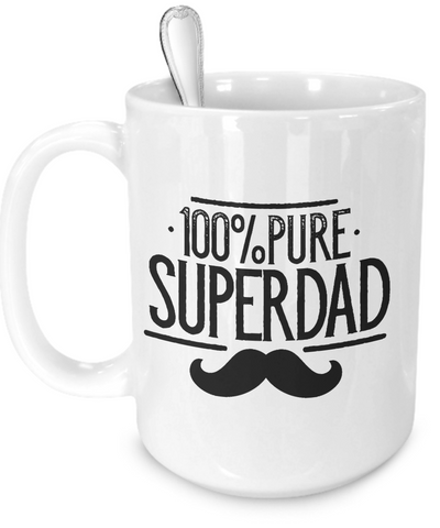 Pure Super Dad v4 - 15oz Mug - Unique Gifts Store