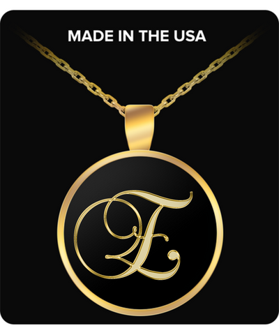 Initial E - Gold Plated Necklace