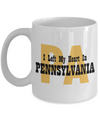 Heart In Pennsylvania - 11oz Mug - Unique Gifts Store
