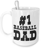 #1 Baseball Dad - 15oz Mug