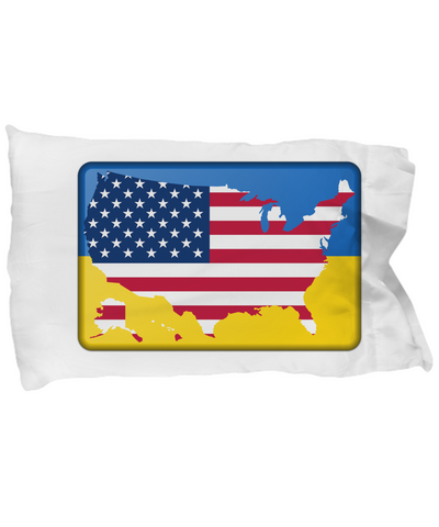 Ukrainian-American - Pillow Case - Unique Gifts Store